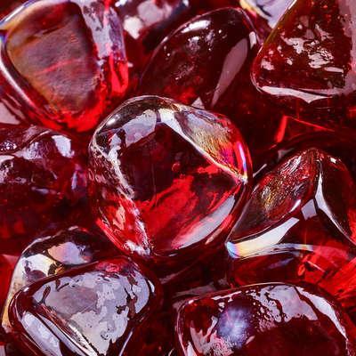 Ruby Fire Glass Diamonds