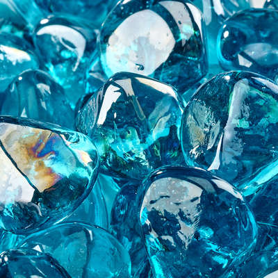 Tahitian Blue Fire Glass Diamonds