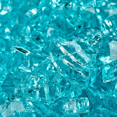 Tahitian Blue Original Fire Glass