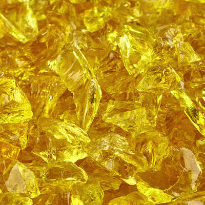 Sunflower Yellow Crushed Fire Glass