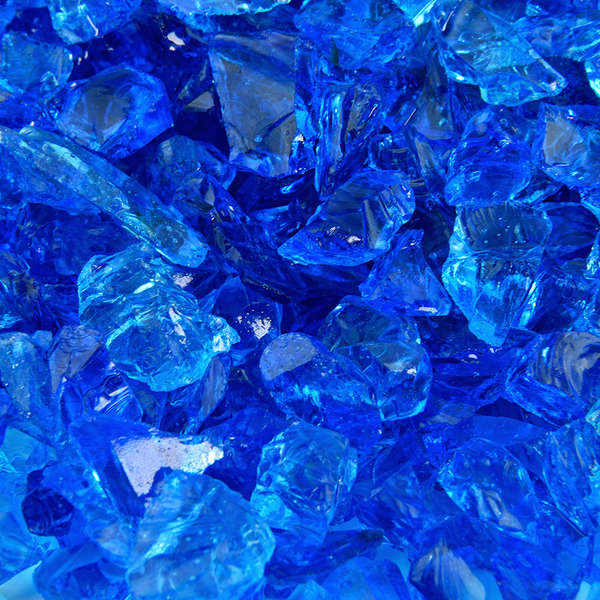Bermuda Blue Crushed Fire Glass