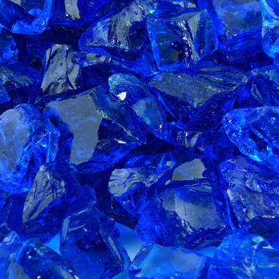 Bermuda Blue Crushed Fire Glass
