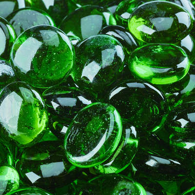Pine Mountain Fire Glass Beads