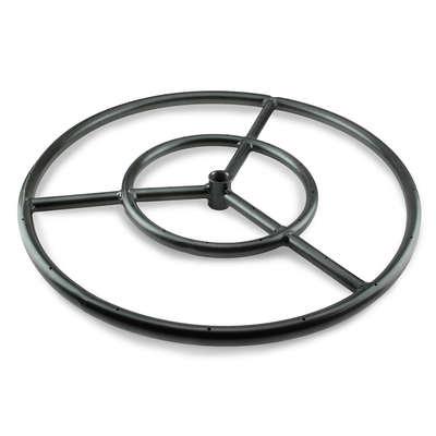 Black Steel Round Fire Pit Burner Ring