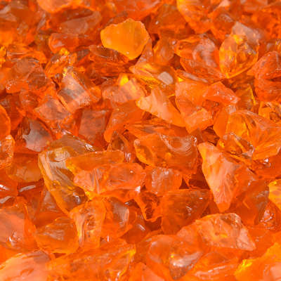 Tangerine Crushed Fire Glass