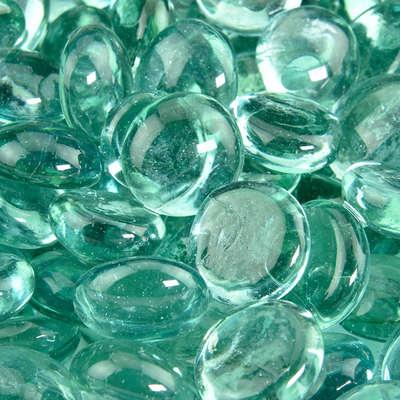 Sea Foam Green Fire Glass Beads