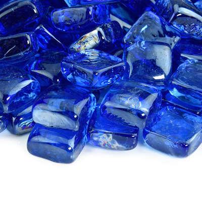 Bermuda Blue Fire Glass Cubes