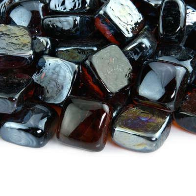 Cowboy Brown Fire Glass Cubes