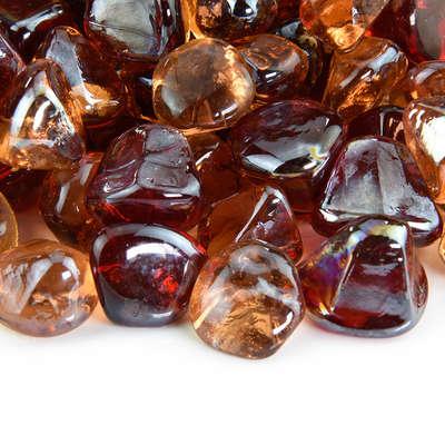 Fiery Sunset Fire Glass Diamond Blend