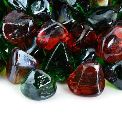 Holiday Sparkle Fire Glass Diamond Blend