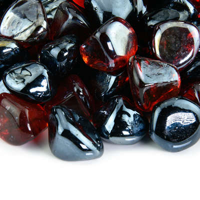 Tuxedo Rose Fire Glass Diamond Blend