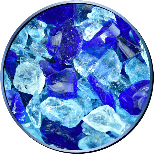 Crushed Fire Glass Blends