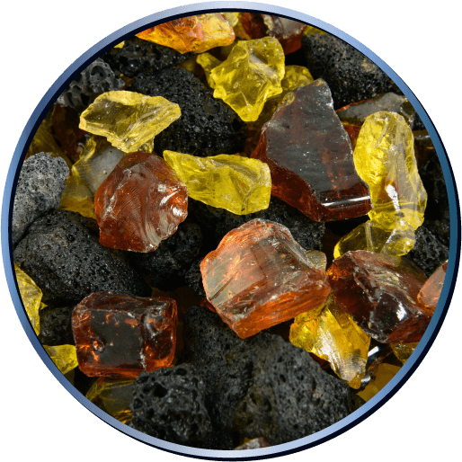Fire Glass Lava Blends